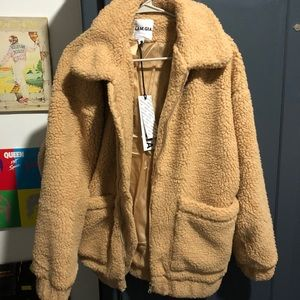 I. Am. Gia. Pixie teddy coat